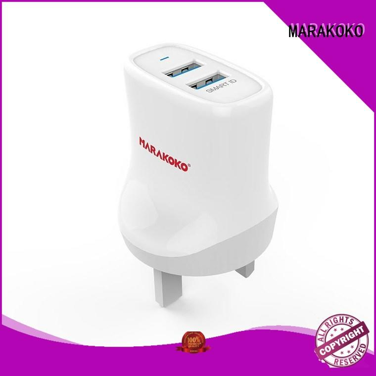 MARAKOKO dual usb wall charger adapter factory price For iPhone iPad