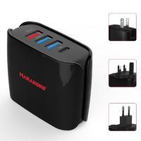 MA11 Multi-USB Port Travel Charger 30W Output US, EU, UK Plugs