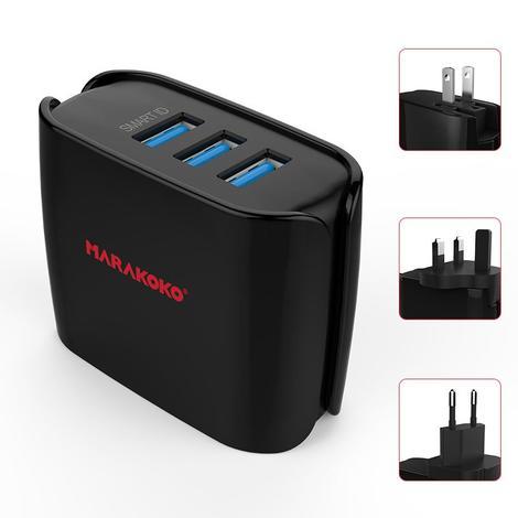 MA10 3 USB Wall Charger 4.0A Output US, EU, UK Plugs