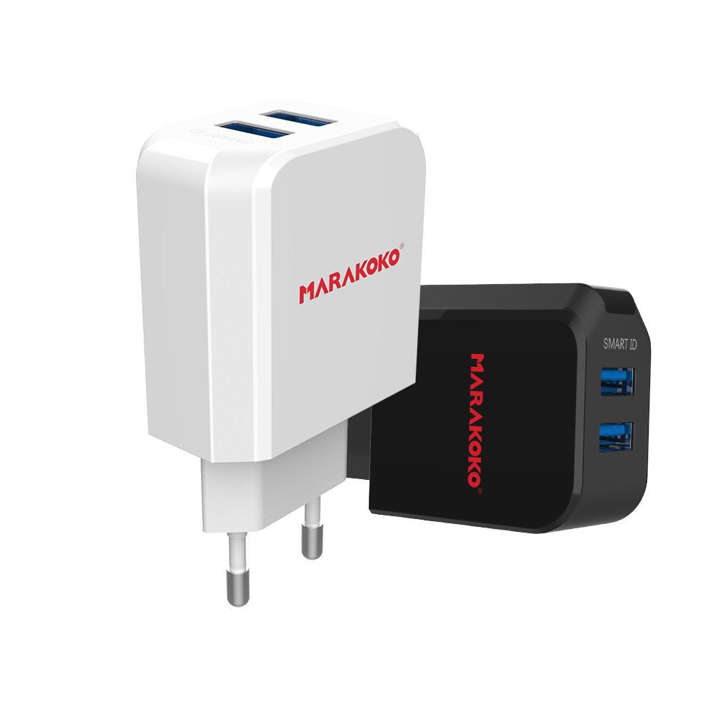 MA40 2-port USB Wall Charger 2.4A Output EU Plug