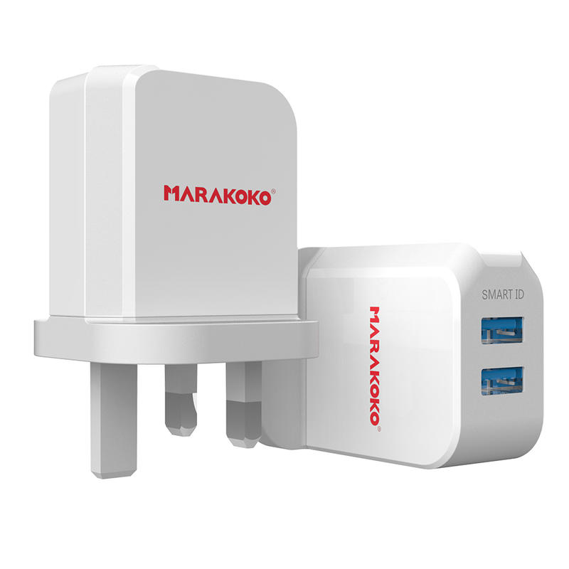 MA42 2-port USB Wall Charger 2.4A Output UK Plug