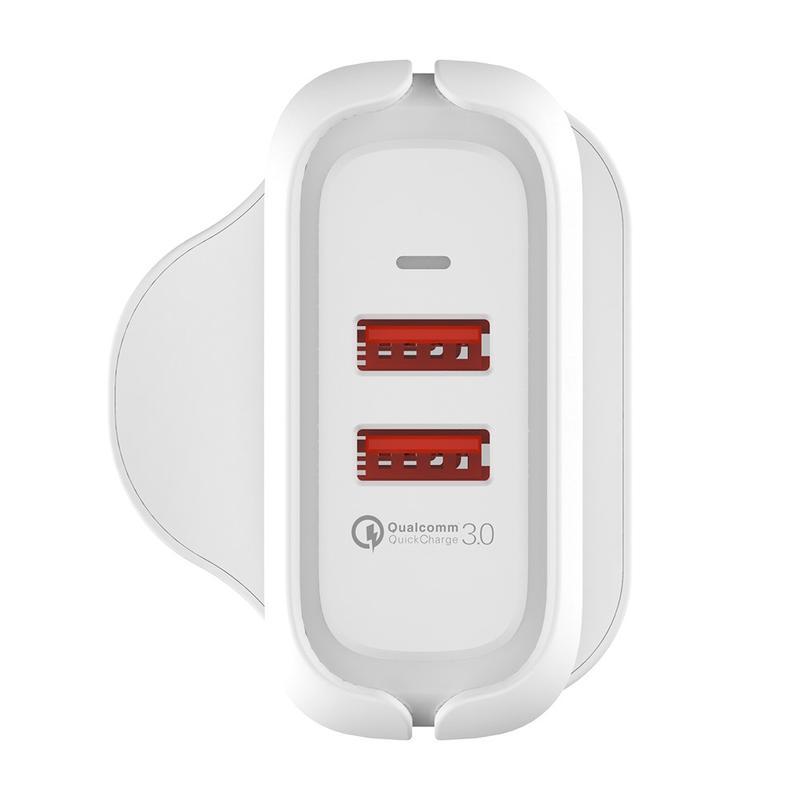 MA23 36W Output Dual USB Wall Charger Q3.0 UK Plug