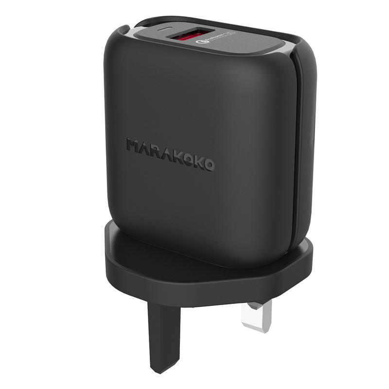 MA38 24W Output Qualcomm Quick Charge 3.0 Wall Charger UK Plug