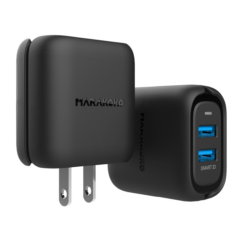 MA31 24W 2-port USB Smart Wall Charger US Plug