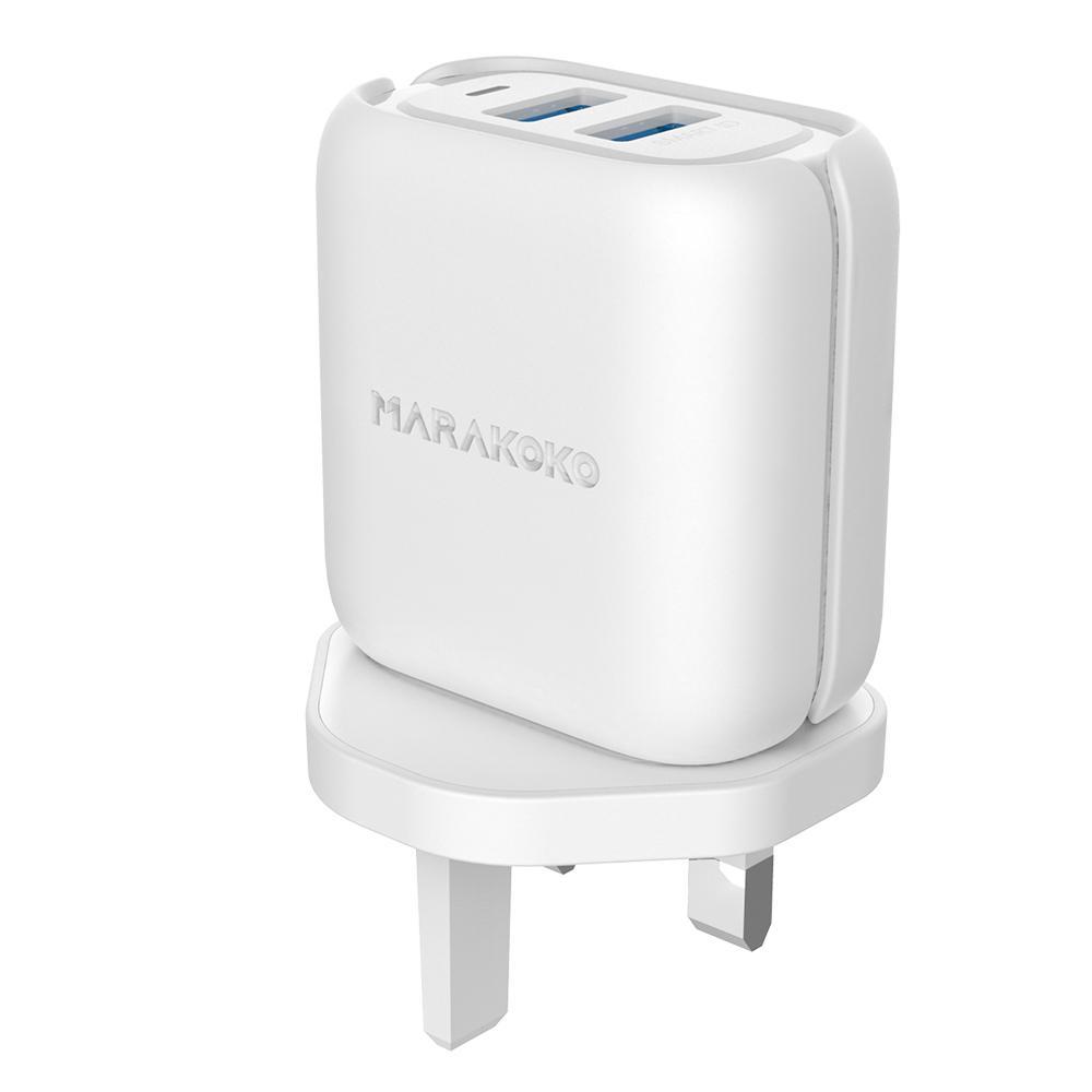 MA32 24W/4.8A Output Smart ID Wall Charger UK Plug