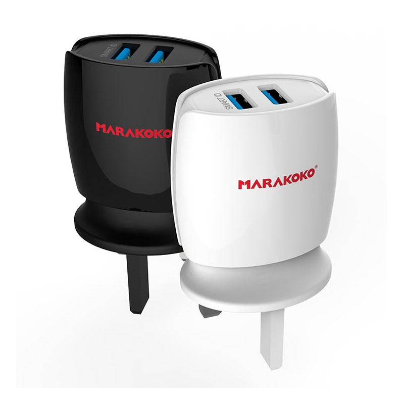 MA3 2-port USB Wall Charger 2.4A Output UK Plug