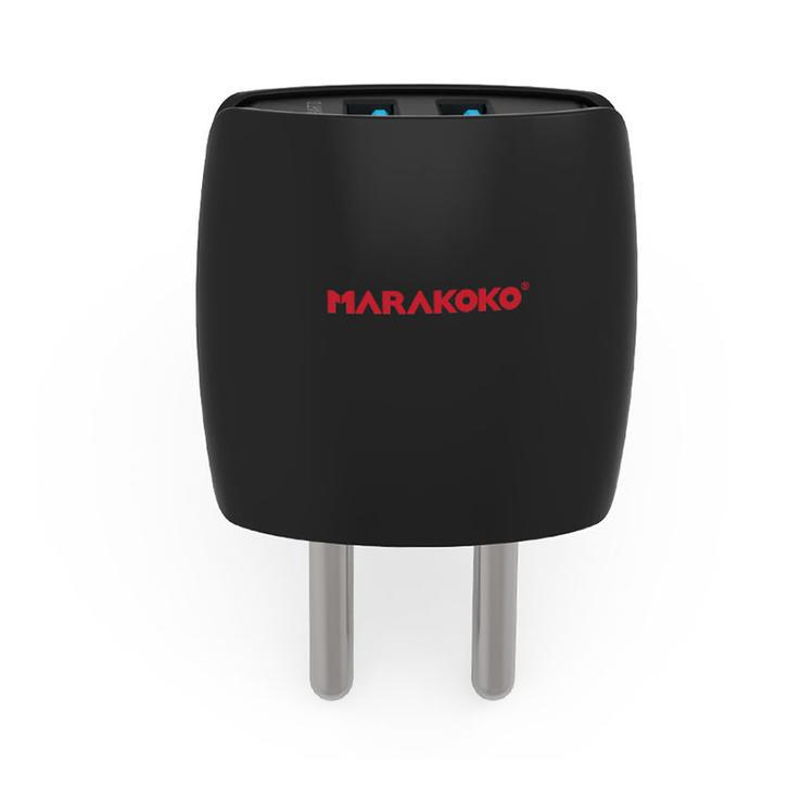 MA4 Dual USB Wall Charger 2.4A Output Indian Plug