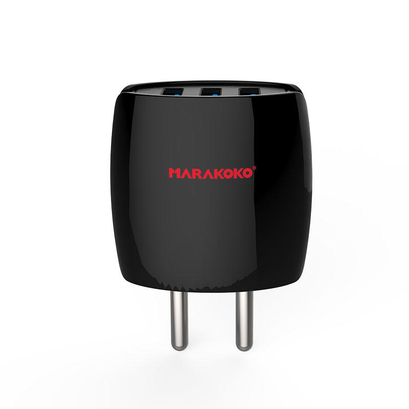 MA8 3-port USB Wall Charger 3.4A Output Indian Plug