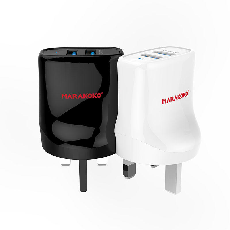 MA12 2-port USB Wall Charger 2.4A Output UK Plug