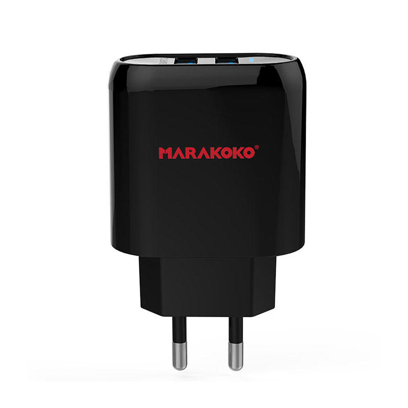 MA16 2-port USB Wall Charger 2.4A Output EU Plug
