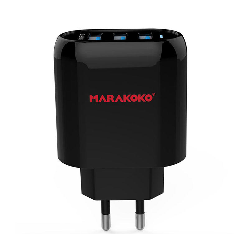 MA17 3-port USB Wall Charger 3.4A Output EU Plug