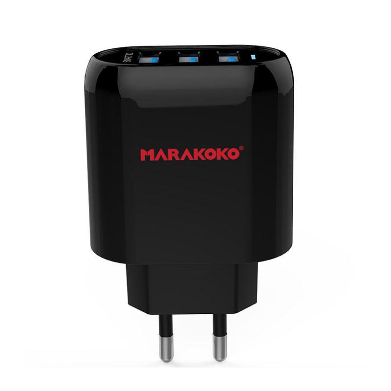 MA17 3-port USB Wall Charger 3.4A Output EU Plug