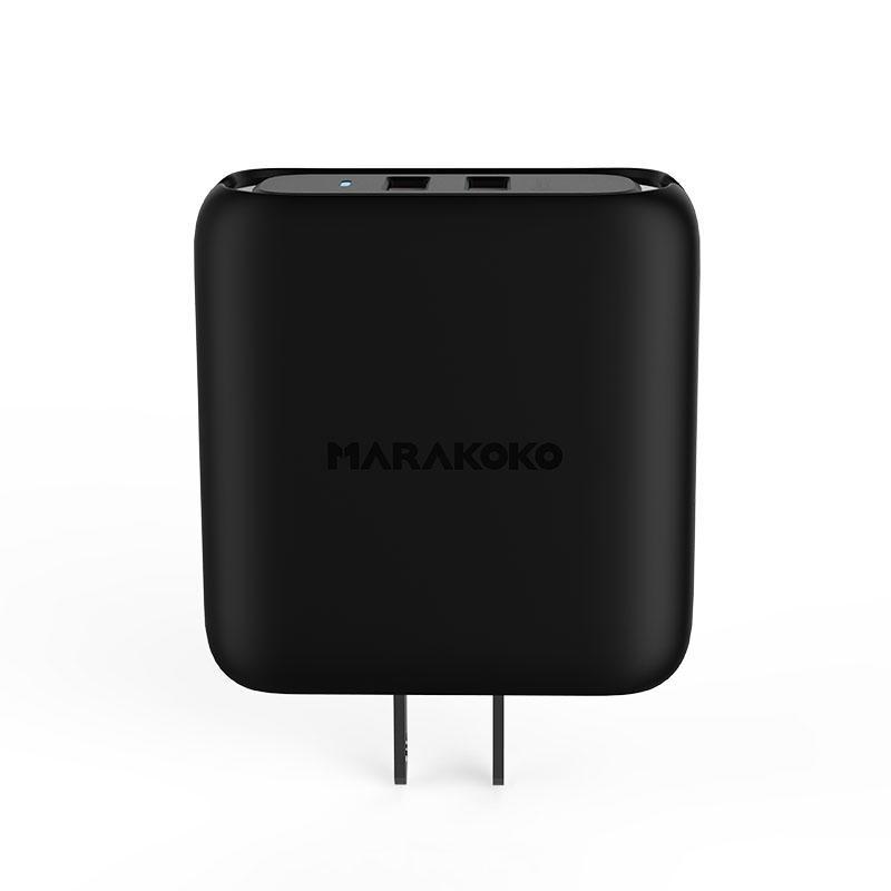 MA22 36W Output Dual USB QC3.0 Quick Wall Charger US Plug