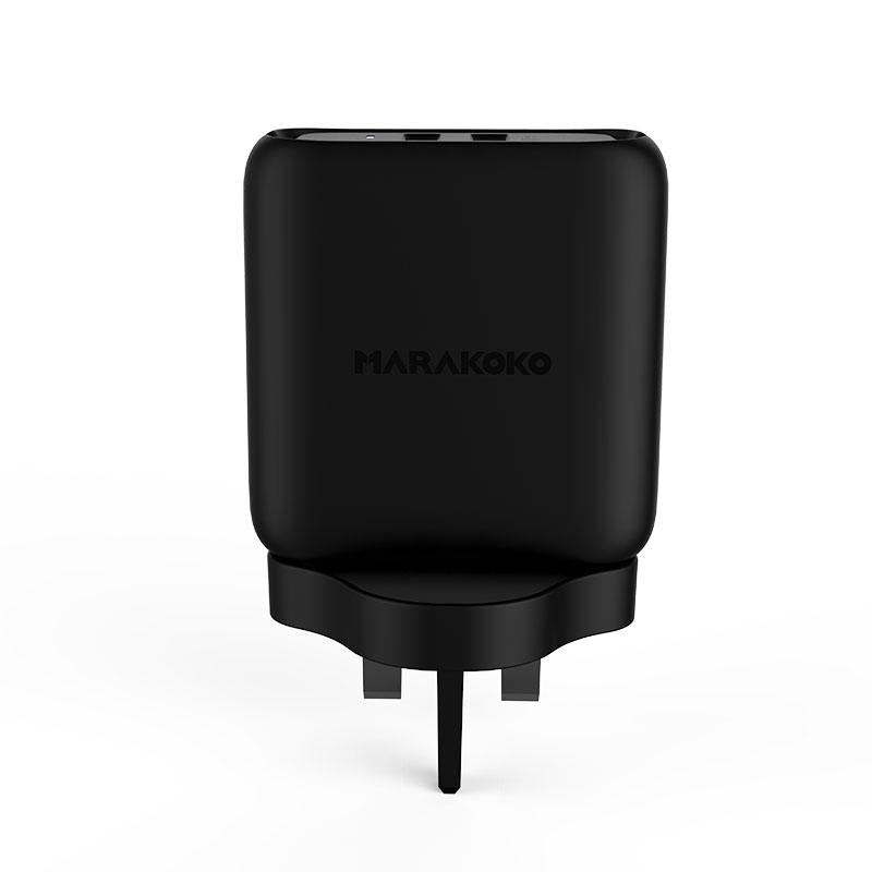 MA23 36W Output Dual USB Wall Charger Q3.0 UK Plug