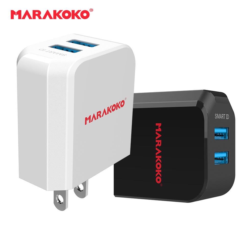 MA41 2-port USB Wall Charger 2.4A Output US Plug