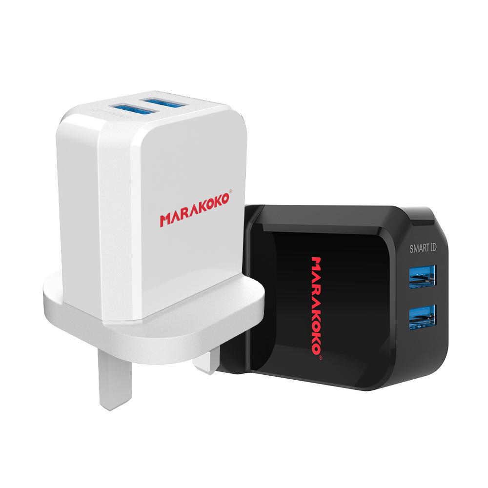 MA42 2-port USB Wall Charger 2.4A Output UK Plug
