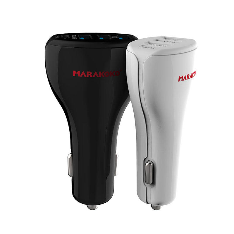 MAC3 39W Output 4-port USB Quick Car Charger with Type C Charging