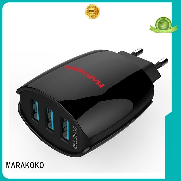 MARAKOKO smart cell phone wall charger with global voltage compatibility for HTC Nexus Moto Blackberry