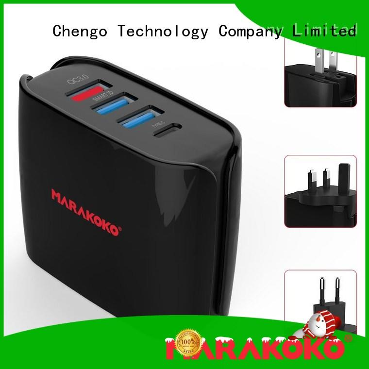 MARAKOKO fast 4 port usb wall charger on sale for Bluetooth Speaker Headset
