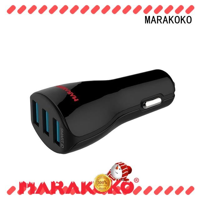 MARAKOKO charger 2 port usb car charger high efficiency for MacBook
